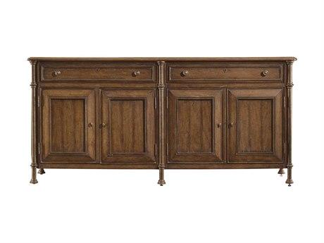 Stanley Furniture European Farmhouse Blond 77'' x 20'' Champagne Cabinet