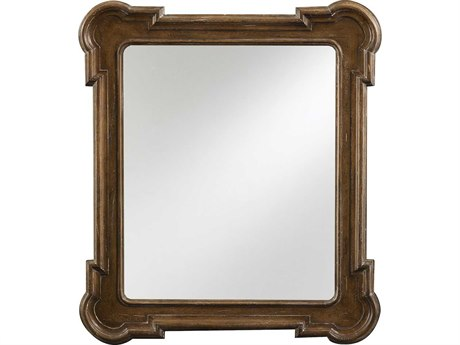 Stanley Furniture European Farmhouse Blond 38L x 30H Captain's Fluted Edge Wall Mirror