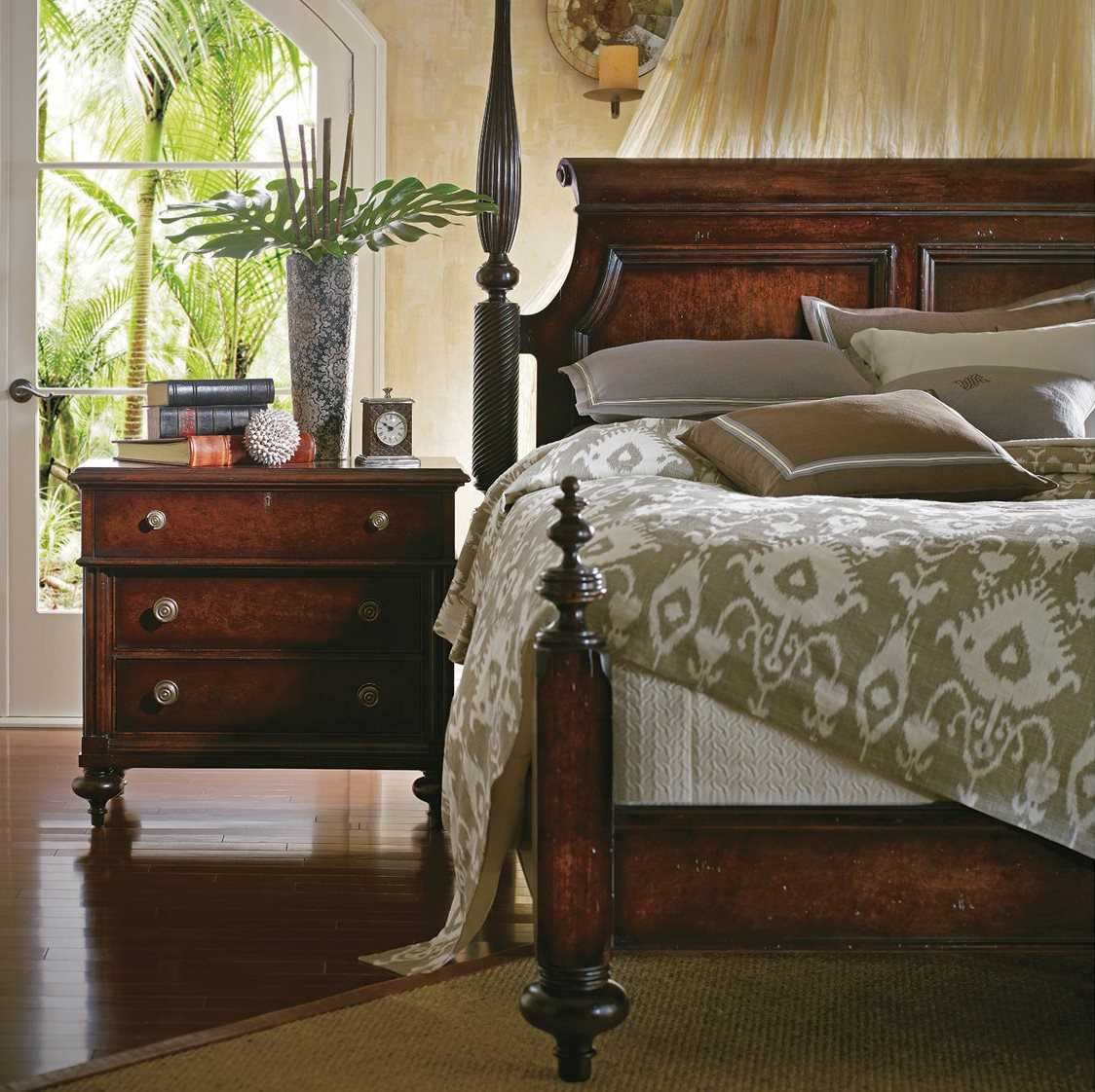 Stanley furniture british colonial bedroom set sl0206342set for Stanley furniture