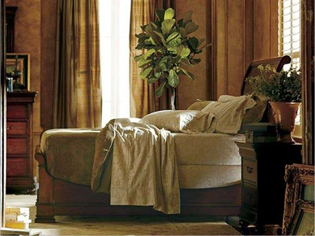 Stanley Furniture Portfolio Burnished Honey California King Sleigh Bed