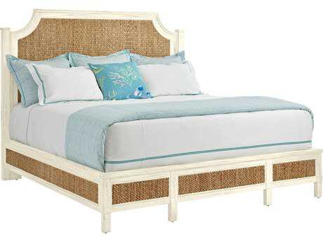 Stanley Furniture Coastal Living Resort Sail Cloth Water Meadow Woven California King Panel Bed