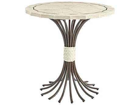 Stanley Furniture Coastal Living Resort Sail Cloth 32'' Round Eddy's Landing Lamp Table