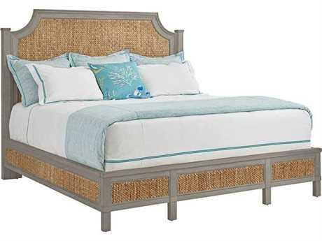 Stanley Furniture Coastal Living Resort Morning Fog Water Meadow Woven King Panel Bed