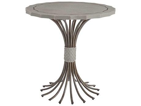 Stanley Furniture Coastal Living Resort Morning Fog 32'' Round Eddy's Landing Lamp Table