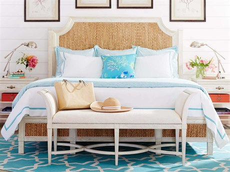 Stanley Furniture Coastal Living Resort Sea Salt Water Meadow Woven King Panel Bed