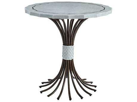 Stanley Furniture Coastal Living Resort Sea Salt 32'' Round Eddy's Landing Lamp Table