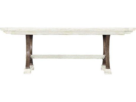 Stanley Furniture Coastal Living Resort Nautical White 111''L x 46''W Rectangular Shelter Bay Dining Table