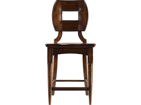 Stanley Furniture Artisan Barrel Wood Counter Stool