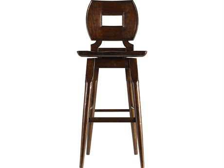 Stanley Furniture Artisan Barrel Wood Bar Stool