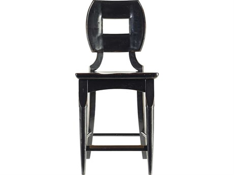 Stanley Furniture Artisan Ebony Wood Counter Stool