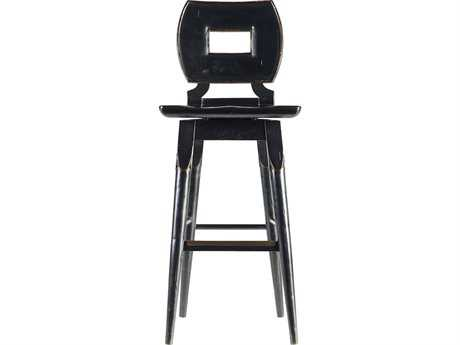 Stanley Furniture Artisan Ebony Wood Bar Stool