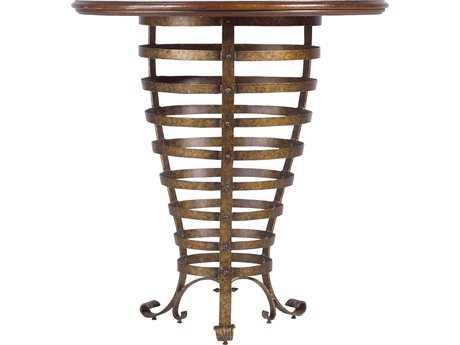 Stanley Furniture Arrondissement Heirloom Cherry 40'' Round Brasserie Pub Table