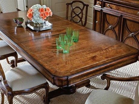 Stanley Furniture Arrondissement Heirloom Cherry 83'' x 46'' Rectangular Famille Pedestal Dining Table