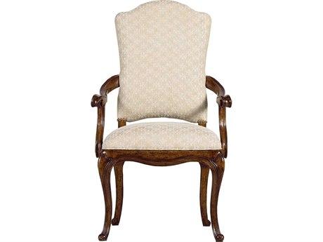 Stanley Furniture Arrondissement Heirloom Cherry Volute Dining Arm Chair