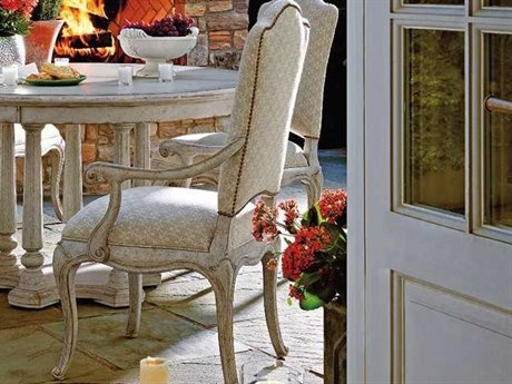 Stanley Furniture Arrondissement Vintage Neutral Volute Dining Arm Chair