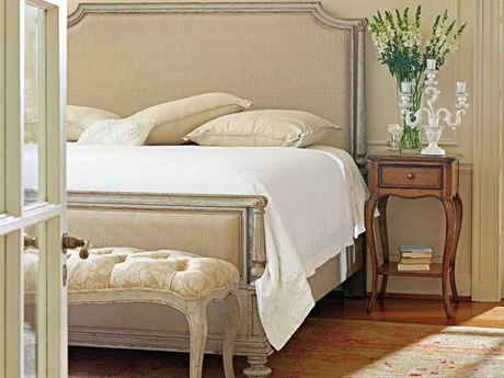 Stanley Furniture Arrondissement Vintage Neutral Palais King Upholstered Bed
