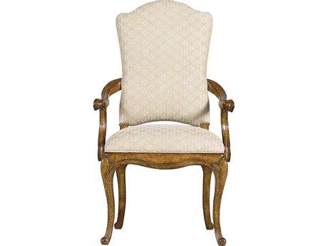 Stanley Furniture Arrondissement Sunlight Anigre Volute Dining Arm Chair