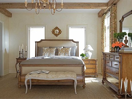 Furniture European Cottage Portfolio Panel Bedroom Set in Vintage ...