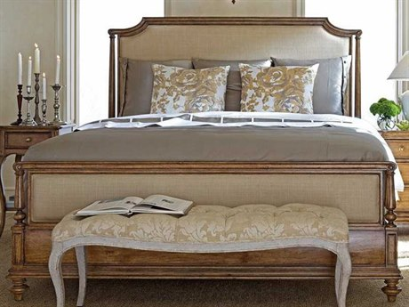 Stanley Furniture Arrondissement Sunlight Anigre Palais California King Upholstered Bed