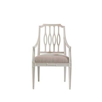 Stanley Furniture Charleston Regency Ropemaker's White Cooper Dining Arm Chair