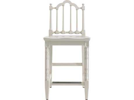 Stanley Furniture Charleston Regency Ropemaker's White Chippendale Counter Stool