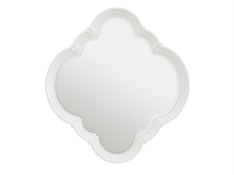 Stanley Furniture Charleston Regency Ropemaker's White 45L x 33H Quatrefoil Wall Mirror
