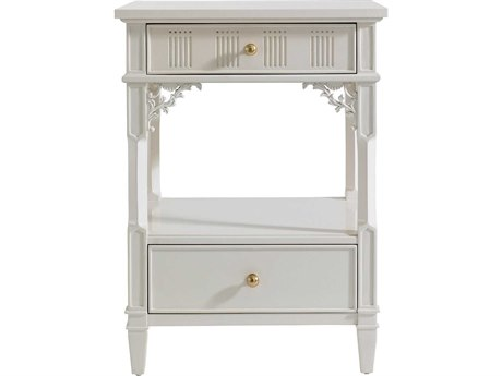 Stanley Furniture Charleston Regency Ropemaker's White 22'' x 18'' Rectangular Palmetto Telephone Table