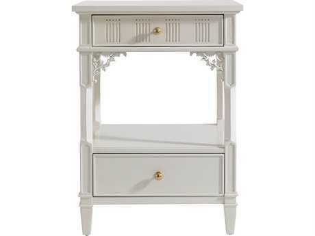 Stanley Furniture Charleston Regency Ropemaker's White 22'' x 18'' Rectangular Palmetto Telephone Table