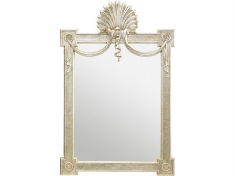 Stanley Furniture Charleston Regency Champagne Silver Leaf 32L x 49H Regent's Wall Mirror