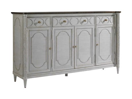 Stanley Furniture Charleston Regency Gray Linen 74'' x 20'' Rectangular East Battery Buffet