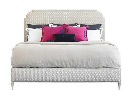 Stanley Furniture Charleston Regency Gray Linen Peninsula California King Upholstered Bed