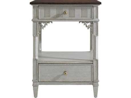 Stanley Furniture Charleston Regency Gray Linen 22'' x 18'' Rectangular Palmetto Telephone Table