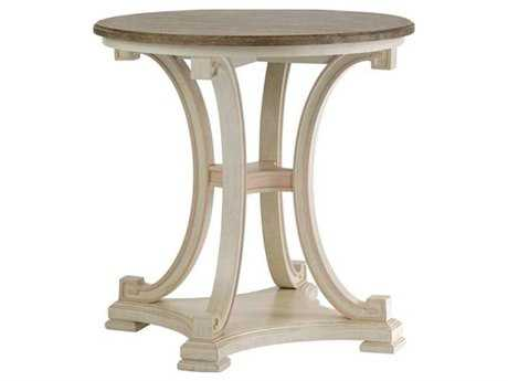 Stanley Furniture Preserve Orchid 28 Round Myrtle Lamp Pedestal Table