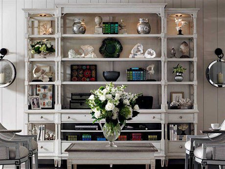 Stanley Furniture Preserve Orchid 111'' x 21'' Rectangular Pavillion Media Bookcase