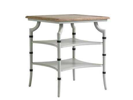 Stanley Furniture Preserve Lamb's Ear 24 Square Saybrook Lamp Table
