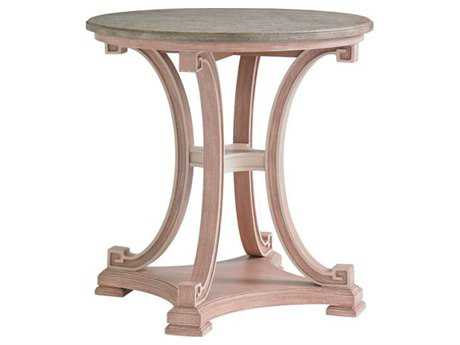 Stanley Furniture Preserve Rose 28 Round Myrtle Lamp Table