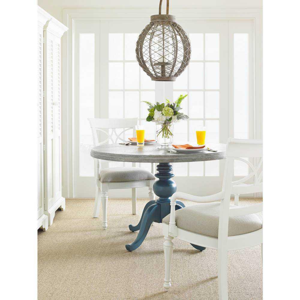 Stanley Furniture Coastal Living Retreat Saltbox White 48 Round Pedestal Wood Top