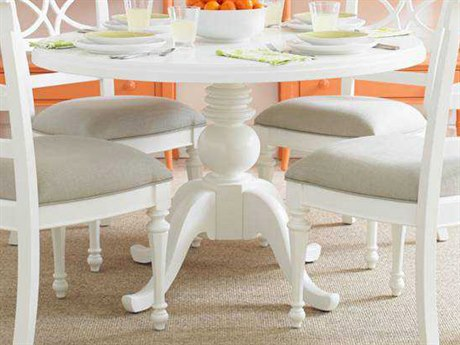 Stanley Furniture Coastal Living Retreat Saltbox White 48'' Round Pedestal Painted Top Dining Table