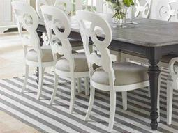 Coastal Living Retreat Saltbox White Wayfarer Dining Side Chair