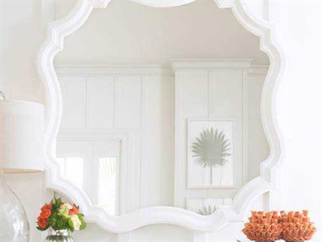 Stanley Furniture 40'' Square Coastal Living Retreat Saltbox White Piecrust Wall Mirror