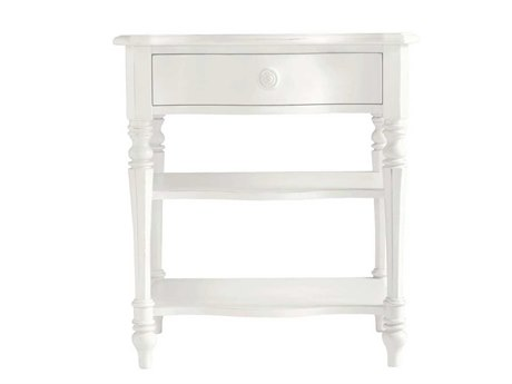 Stanley Furniture Coastal Living Retreat Saltbox White 26'' x 18.25'' Rectangular Bedside Table