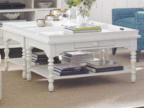 Stanley Furniture Coastal Living Retreat Saltbox White 42'' x 28'' Rectangular Sand Box Cocktail Table