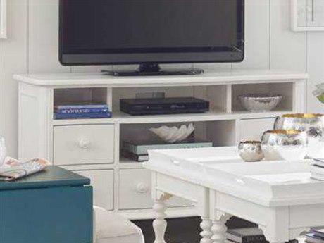 Stanley Furniture Coastal Living Retreat Saltbox White 59'' x 21'' Rectangular Media Console TV Stand