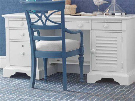 Stanley Furniture Coastal Living Retreat Saltbox White 62.375'' x 24'' Rectangular Computer File Desk