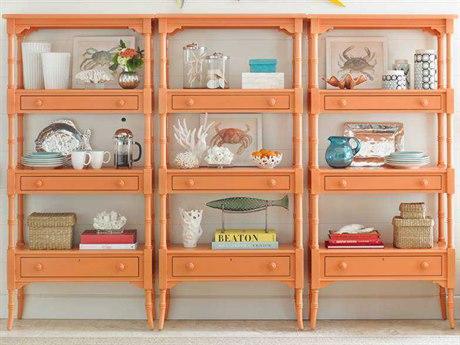 Stanley Furniture Coastal Living Retreat Spanish Orange 17W'' x 75.25H Etagere Bookcase