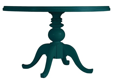 Stanley Furniture Coastal Living Retreat Belize Teal 48 Round Pedestal Painted Top Dining Table