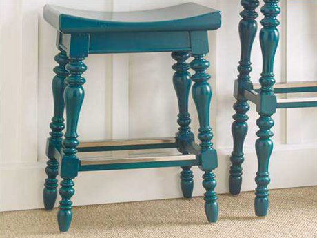 Stanley Furniture Coastal Living Retreat Belize Teal Somewhere Counter Stool