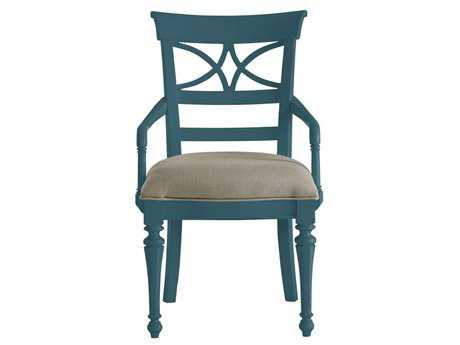 Stanley Furniture Coastal Living Retreat English Blue Sea Watch Dining Arm Chair