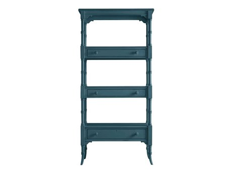 Stanley Furniture Coastal Living Retreat English Blue 17W'' x 75.25H Etagere Bookcase