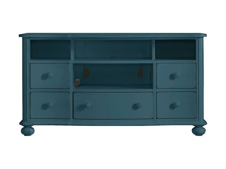 Stanley Furniture Coastal Living Retreat English Blue 59'' x 20'' Rectangular Media Console TV Stand